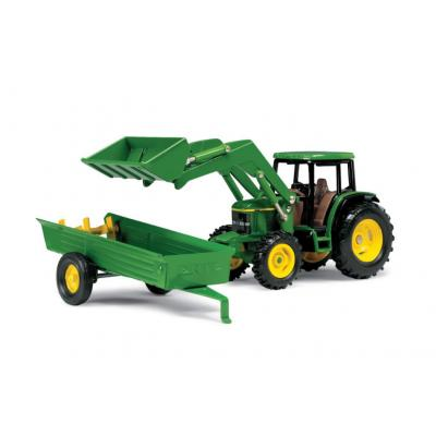 Ertl 15488P - John Deere 6210 Tractor with Frontloader and Manure Spreader - Scale 1:32