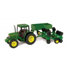 Ertl 15489 - John Deere 6410 Tractor with Barge Wagon and Disc Trailer - Scale 1:32