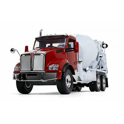 First Gear 10-4130 Kenworth T880 in Red with McNeilus Standard Mixer in White  - Scale 1:34