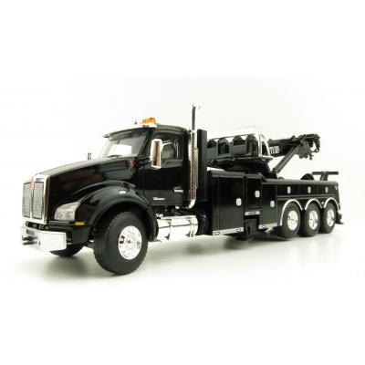 First Gear 50-3464 Kenworth T880 Truck with Century 1060 Rotator Wrecker Black Scale 1:50