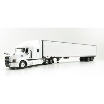 First Gear 60-0367 Mack Anthem Sleeper Cab Truck and 53' Trailer White - Scale 1:64