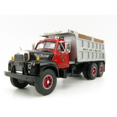 First Gear 60-0433 Mack Hauling B-61 Dump Truck - Build Like A Mack Truck - Scale 1:64