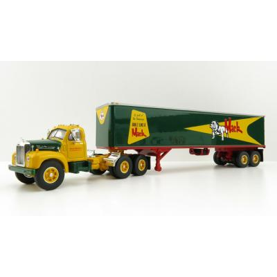First Gear 60-0444 Mack B-61 Day Cab and 40' Vintage Trailer - Built Like A Mack Truck - Scale 1:64