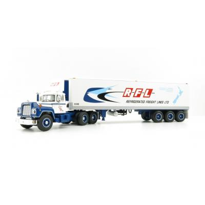 First Gear 60-0632 Mack R Day Cab with 40' Reefer Trailer - RFL Refrigerated Freight Lines Ltd Australia NZ - Scale 1:64
