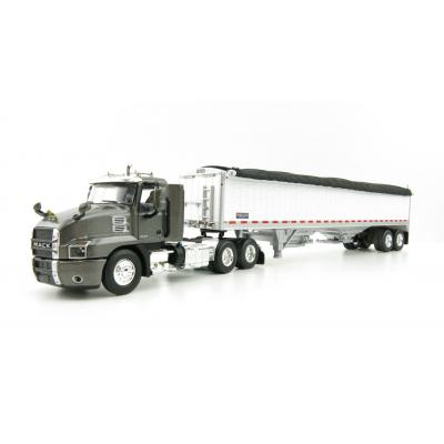 First Gear 60-0725 Mack Anthem Day Cab Truck and Wilson Grain Trailer - Scale 1:64