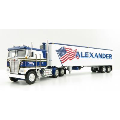 First Gear 60-0846 Kenworth K100 COE Truck and 40' Vintage Reefer Trailer Alexander Trucking - Scale 1:64