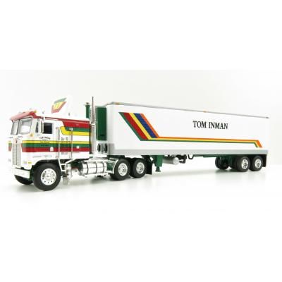 First Gear 60-0847 Kenworth K100 COE Truck and 40' Vintage Reefer Trailer Tom Inman - Scale 1:64