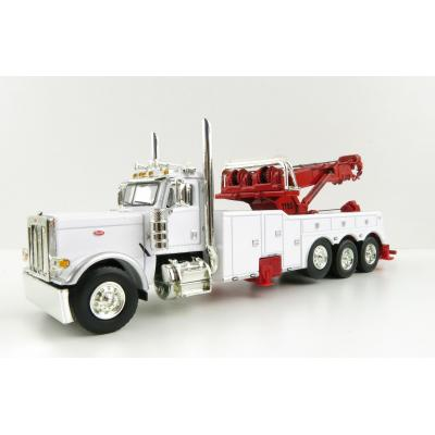 First Gear 60-0882A Peterbilt Model 389 Truck with Century Model 1150 Rotator Wrecker White Red - Scale 1:64