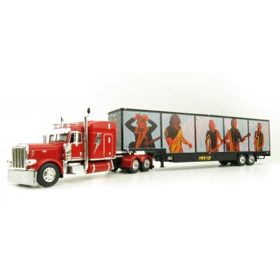 First Gear 69-1063 Peterbilt 389 Truck with Kentucky Moving Trailer - AC/DC: Power/Up Red - Scale 1:64