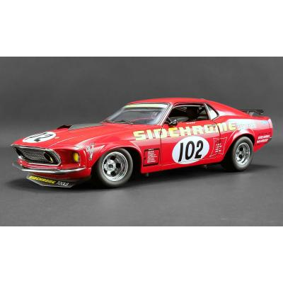 DDA ACME 1801829 1969 Ford Boss 302 Trans Am Mustang 1969 No 102 Sidchrome - Scale 1:18