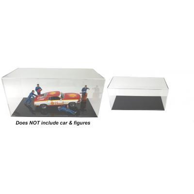 DDA - Acrylic Display Show Case 43cm L x 21cm W x 19.5 H Suits 1:12, 1:18, 1:24, 1:43, 1:32, 1:64, 1:50