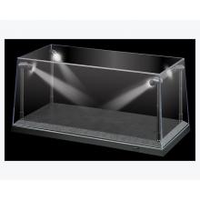 DDA Display Case Box Show Case with LED Light Black Base for Diecast Models 1:18