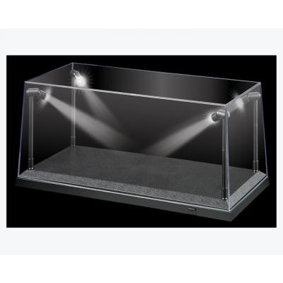 DDA Display Case Box Show Case with LED Light Black Base for Diecast Models 1:18