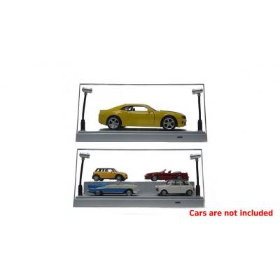 DDA Display Case Box Show Case with LED Light Silver Models Scale 1:24 1:32 1:43 1:50 1:64