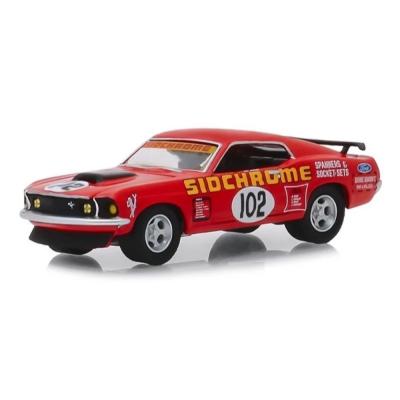 DDA GreenLight 51236 1969 Ford Mustang Boss 302 No 102 Jim Richards Sidchrome Racing - Scale 1:64