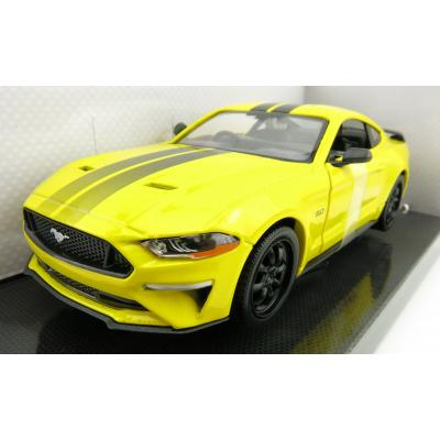 DDA GreenLight Yellow 2018 Ford Mustang GT Right Hand Drive Scale 1:24