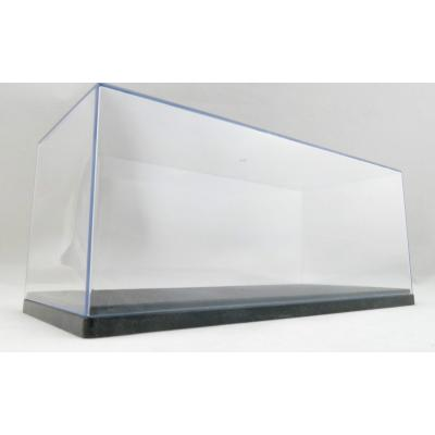 Display Case Box Show Case with Black Base for Diecast Models 1:24