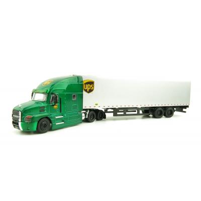 Greenlight 30089 - 2019 Mack Anthem Truck with Semi Freight Trailer UPS RARE Green Chase Edition Scale 1:64