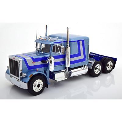 Road King - 1967 Peterbilt 359 Bull Nose Prime Mover Truck Light Blue Metallic - Scale 1:18