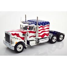 Road King - 1967 Peterbilt 359 Bull Nose Prime Mover Truck Stars and Stripes - Scale 1:18