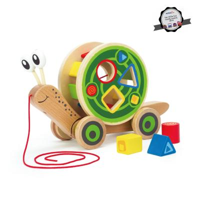 Hape - 0349 Wooden Walk-A-Long Snail