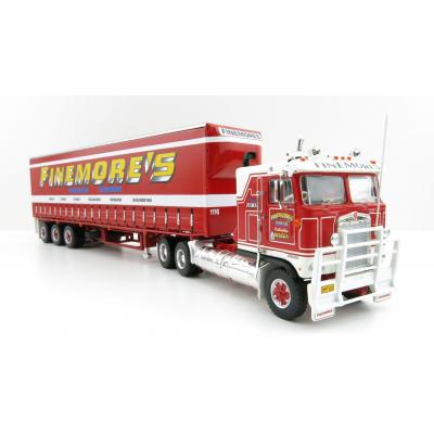 Highway Replicas 12018 Australian Kenworth K100 Prime Mover Freight Semi Tautliner Finemores Transport Scale 1:64