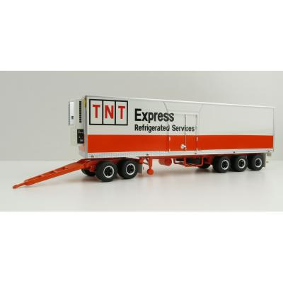 Highway Replicas 12984 Australian Freight Road Train Trailer Thermo King Maxicube with Dolly TNT Refrigeration Division - Scale 1:64