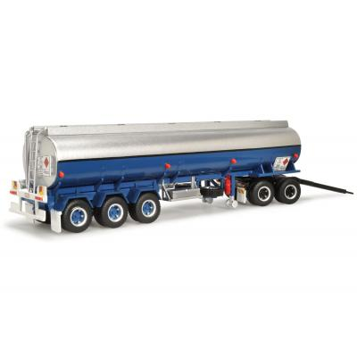 Highway Replicas 12991 Australian Tanker Road Train Trailer Blue / Silver  - Scale 1:64
