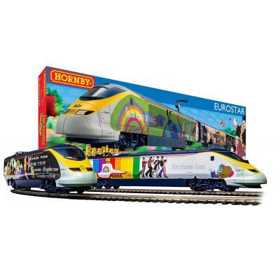 HORNBY R1253M  The Beatles 'Yellow Submarine' Eurostar e300 High Speed Train Set OO GAUGE DCC READY