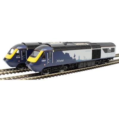 Hornby R3903 ScotRail Class 43 HST Power Cars 43021 and 43132 A New Era - Era 10 DCC Ready OO Scale
