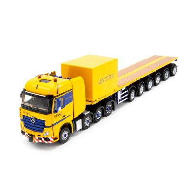 IMC Models 33-0124 Mercedes Actros 8x4 Nooteboom Ballast Trailer Container - Tadano Demag AC 700-9 Support Combo - Scale 1:50