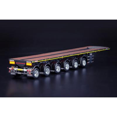 IMC Models 33-0162 Grey Series Nooteboom 6 axle OVB Ballasttrailer with 10ft Container - Scale 1:50