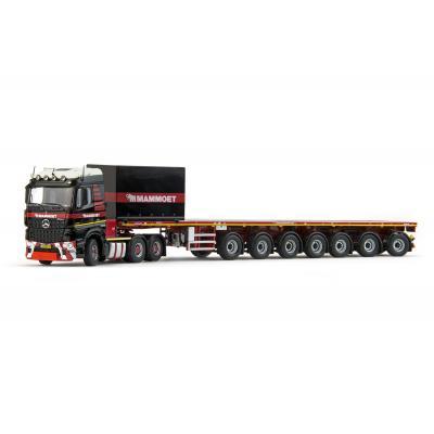 IMC Models 410202 Mammoet Mercedes Benz Arocs Streamspace 6x4 Nooteboom Ballasttrailer 7 axle + Ballast Box  - Scale 1:50