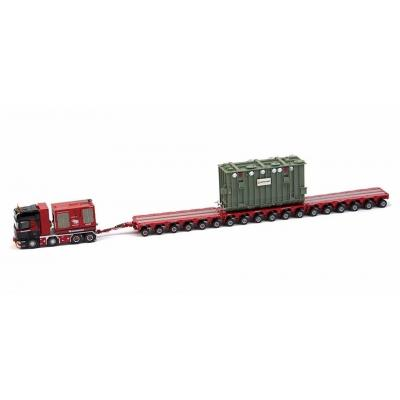 IMC Models 410214 Mammoet Scania R620 with K25 18 Liner Trailer + Trafo Transformer Scale 1:50