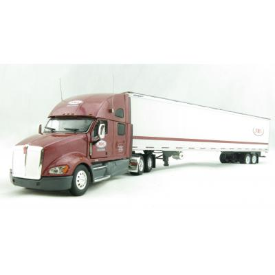 Tonkin Replicas 12-0131 - Kenworth T700 Sleeper Cab 6x4 Truck 53 ft  Reefer Box Trailer - JBS Carriers - Scale 1:53