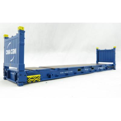 Iconic Replicas - 40 ft Flat Rack Shipping Container - CMA CGM - Scale 1:50