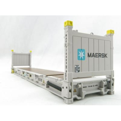 Iconic Replicas - 40 ft Flat Rack Shipping Container - Maersk - Scale 1:50