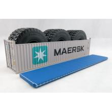 Iconic Replicas - 40 ft Shipping Container Open Top with Mining Truck Tyre Load - Maersk - Scale 1:50