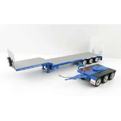 Iconic Replicas - Custom Transport Equipment CTE 45' Extendable Drop Deck Trailer with 3axle Dolly Hi-Haul Transport - Scale 1:50