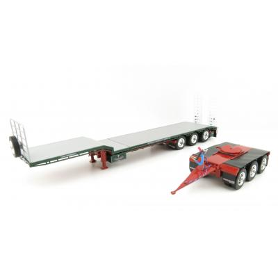 Iconic Replicas - Custom Transport Equipment CTE 45' Extendable Drop Deck Trailer with 3axle Dolly Membreys - Scale 1:50