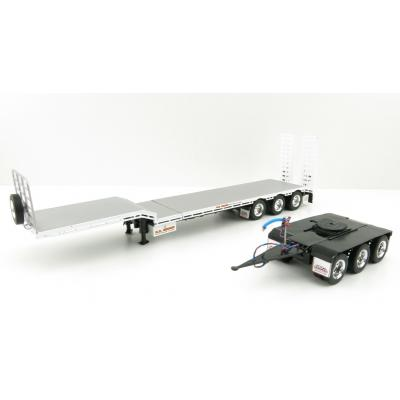 Iconic Replicas - Custom Transport Equipment CTE 45' Extendable Drop Deck Trailer with 3axle Dolly NQ Group - Scale 1:50