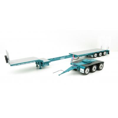 Iconic Replicas - Custom Transport Equipment CTE 45' Extendable Drop Deck Trailer with 3axle Dolly Toll - Scale 1:50