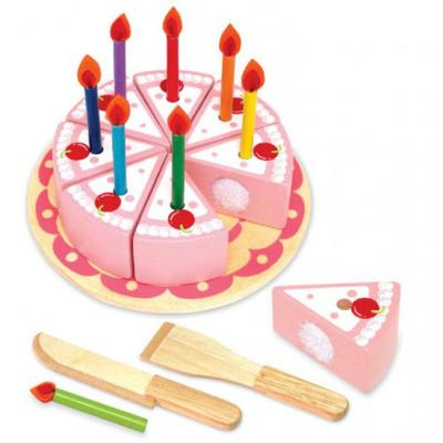 Im Toy 97150 - Wooden Party Cake Set