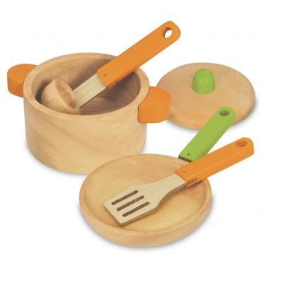 Im Toy 97470 - Wooden Cooking Set