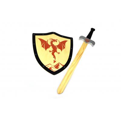 Kaper Kids - Wooden Sword and Shield Prince Dragon Flame