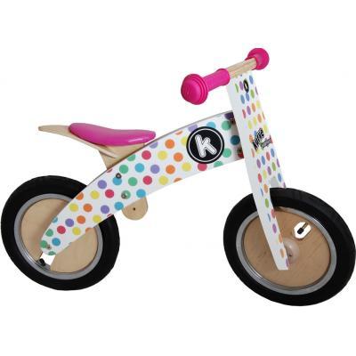 Kiddimoto - Wooden Kurve Pastel Dotty Balance Bike