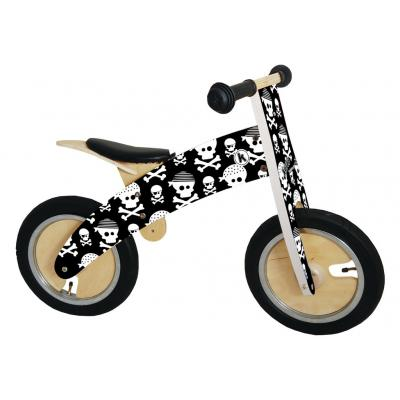 Kiddimoto - Wooden Kurve Skullz Balance Bike