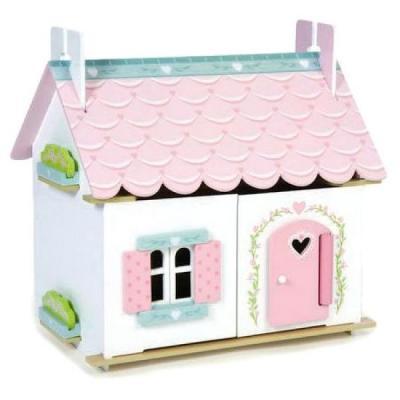 Le Toy Van LEH111 - Wooden Dollhouse Lily's Cottage includes Starter Furniture Set