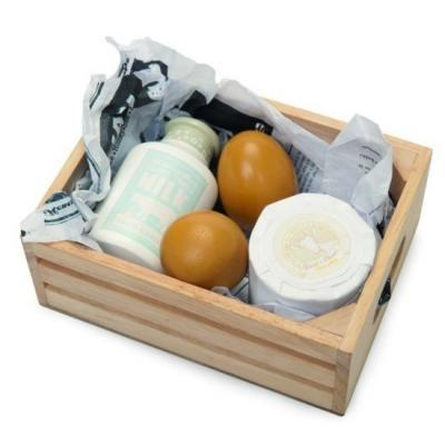 Le Toy Van TV185 - Eggs & Dairy in a Crate