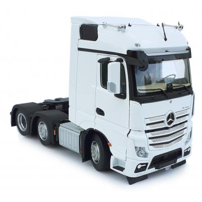 Marge Models 1910-01 - Mercedes-Benz Actros Bigspace 6x2 Truck Prime Mover White - Scale 1:32